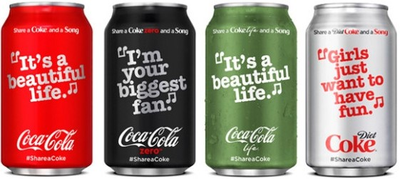 Coca Cola share coke campagne